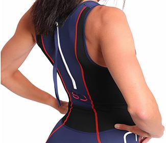 traje triatlon señora con cremallera en la espalda para distancia sprint